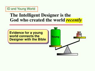 The Intelligent Designer is the  God who created the world  recently