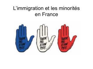 L�immigration et les minorit�s  en France