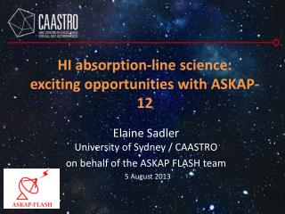 HI absorption-line science:    exciting opportunities with ASKAP-12