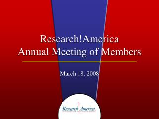 Research!America  Annual Meeting of Members