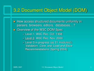 3.2 Document Object Model (DOM)