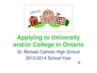 Applying to University and/or College in Ontario