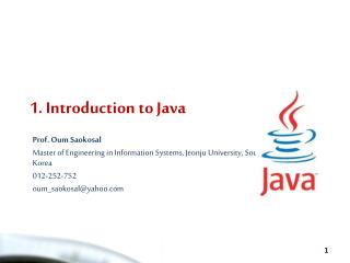 1. Introduction to Java