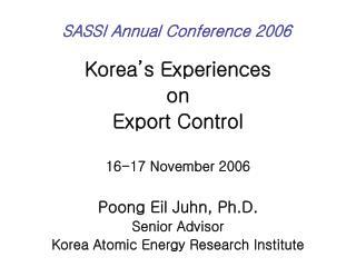 SASSI Annual Conference 2006