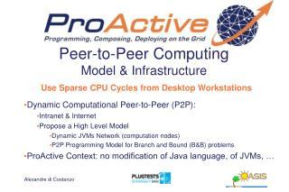 Peer-to-Peer Computing Model & Infrastructure