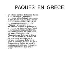 PAQUES  EN  GRECE