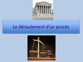 Le déroulement d'un procès