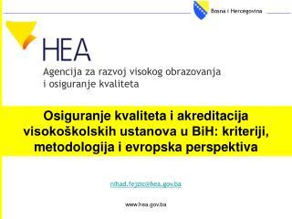 Agencija za razvoj visokog obrazovanja i osiguranje kvalitet a