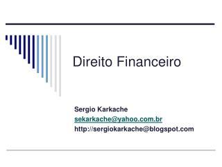 Direito Financeiro