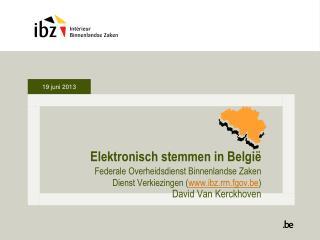 Elektronisch stemmen in Belgi�