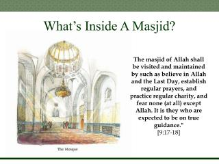 What�s Inside A Masjid?