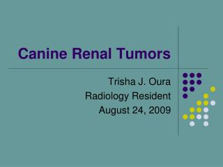 Canine Renal Tumors
