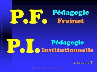 P dagogie  Freinet