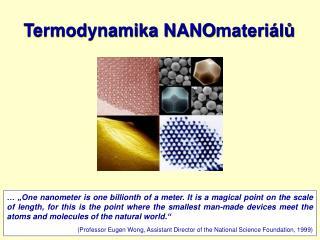 Termodynamika NANO materiálů