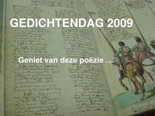GEDICHTENDAG 2009