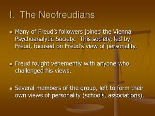 I.  The Neofreudians