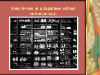 Shoe boxes in a Japanese school entrance way.
