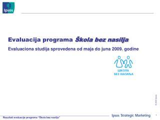 Evaluacija programa  Škola bez nasilja