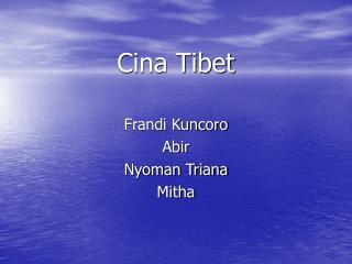 Cina Tibet