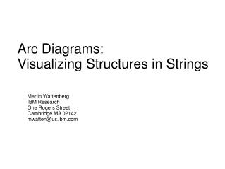 Arc Diagrams: Visualizing Structures in Strings