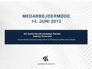 Medarbejdermøde  14. juni 2013