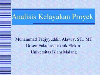 Analisis Kelayakan Proyek