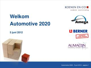 Welkom Automotive 2020 5 juni 2012