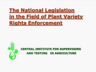 Plant Variety Rights Legislation in the Czech Republic