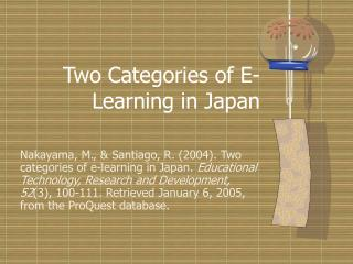 Two Categories of E-Learning in Japan