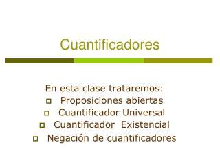 Cuantificadores