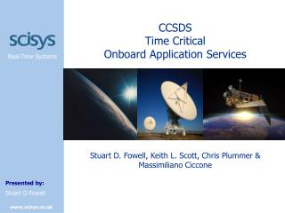 CCSDS Time Critical Onboard Application Services