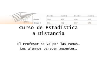 Curso de Estad�stica a Distancia