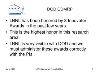 DOD CDMRP