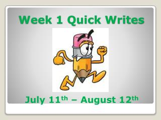 Week 1 Quick Writes