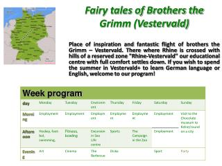 Fairy tales of Brothers the Grimm (Vestervald)