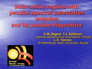 Solar active regions with peculiar spectral polarization emission  and its possible diagnostics