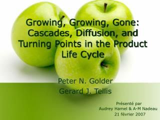 Growing, Growing, Gone: Cascades, Diffusion, and Turning Points in the Product Life Cycle