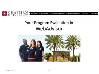 Your Program Evaluation in WebAdvisor
