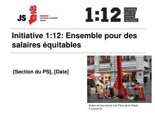 Initiative 1:12: Ensemble pour des salaires équitables