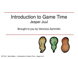 Introduction to Game Time Jesper Juul