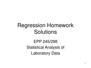 Regression Homework Solutions
