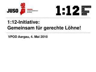 1:12-Initiative: Gemeinsam für gerechte Löhne!