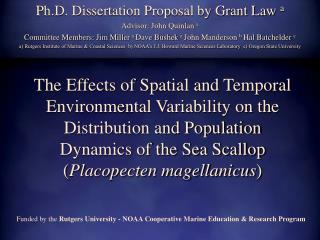 Ph.D. Dissertation Proposal by Grant Law  a Advisor: John Quinlan  a