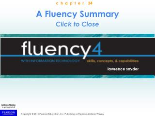 Fluency in Information Technology