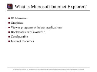 What is Microsoft Internet Explorer