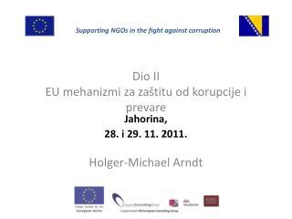 Dio II EU  mehanizmi za zaštitu od korupcije i prevare