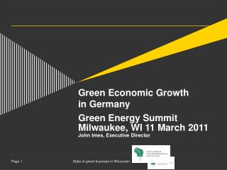 Green Economic Growth in Germany