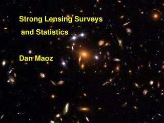 Strong Lensing Surveys  and Statistics Dan Maoz