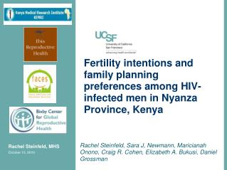 Fertility intentions and family planning preferences among HIV-infected men in Nyanza Province, Kenya