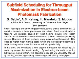 Subfield Scheduling for Througput Maximization in Electron-beam Photomask Fabrication